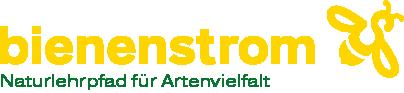 Logo Bienenstrom mit Subline Naturlehrpfad für Artenvielfalt